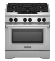 kitchenaid 36 inch 6 burner dual fuel freestanding range