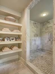 Shower Head In Ceiling by Contemporary Master Bathroom With Rain Shower Head U0026 High Ceiling