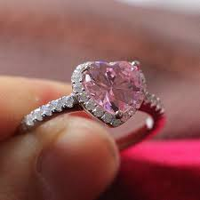 aliexpress buy new arrival hight quality white gold pretty in touched high quality 2ct pink heart shape diamond ring for