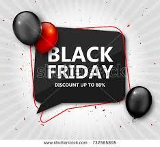 black friday sale shopping poster seasonal stock vector 732585895