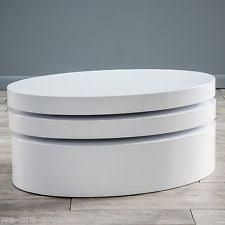 white oval coffee table oval coffee table ebay