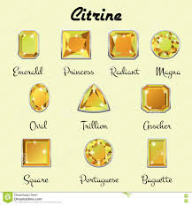 types of cuts of citrine stock vector image 82174271