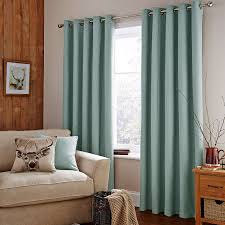 Whitworth Duck Egg Lined Curtains Blue Lined Curtains Bedroom Home Design