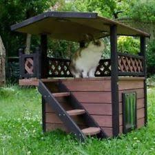 wooden cat house ebay