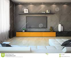 Cabinet Tv Modern Design Part Of Modern Interior With Tv Stock Image Image 31518761