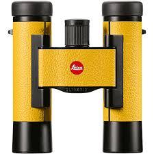 leica 10x25 ultravid colorline binocular lemon yellow 40632