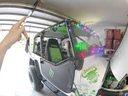 jeep christmas decorations jeep wrangler christmas lights how to video youtube