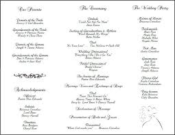 wedding program templates best wedding program templates obfuscata