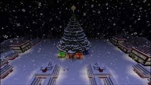 minecraft christmas town giant christmas tree u0026 snowman youtube