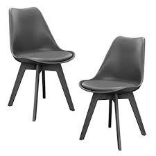 sedia sala da pranzo en casa 皰 2 x sedie sala da pranzo grigie per sala da pranzo