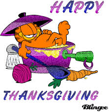 garfield clipart thanksgiving pencil and in color garfield