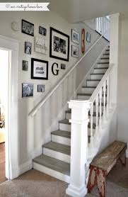 Paint Colors For Hallways And Stairs by Stairway Renovation Cut Out Wall And Add Spindles Rail Paint