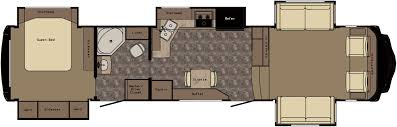 Fleetwood 5th Wheel Floor Plans by Front Living Room 5th Wheel Floor Plans Ideasidea