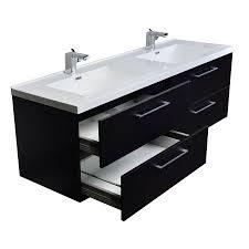 Modern Double Vanity Bathroom by Buy Camino 67 In Modern Double Vanity Set Wall Mount Matt Black