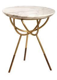 atlas side table by avram rusu studio brushed brass with calcutta