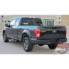 Ford F150 Truck 2015 - ford f 150 rode tailgate pre cut emblem blackout vinyl graphic