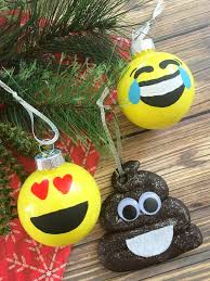 diy emoji ornaments frugal eh