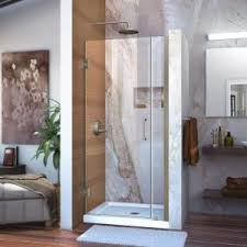bifold shower door frameless dreamline butterfly 34 in to 35 1 2 in x 72 in framed bi fold