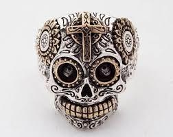 urban skeleton ring holder images Sugar skull ring etsy jpg