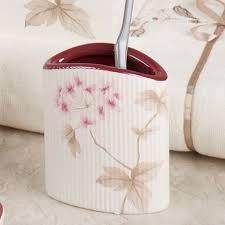 Croscill Bath Accessories by Christina Red Cherry Blossom Bath Accessories By Croscill