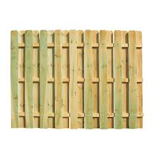 Curved Trellis Fence Panels 6 Ft H X 8 Ft W Pressure Treated Pine Shadowbox Fence Panel