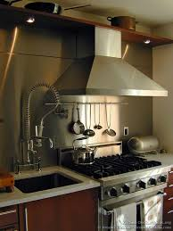 Kitchen Idea Of The Day Photo By Brooks Custom Stainless Steel - Custom stainless steel backsplash