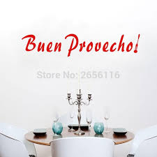 maman cuisine espagnol citations buen prevecho stickers muraux bon appé