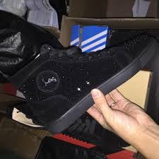 high quality louboutin shoes high tops cl shoes men christian