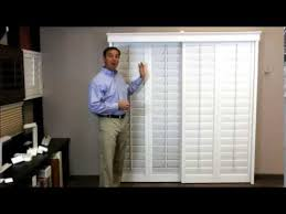 Bypass Shutters For Patio Doors Plantation Shutters On A Sliding Glass Door