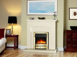 endeavour fires roxby inset electric fire brass trim and fret