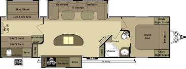 awesome layout with bunks and kitchen island travel trailer