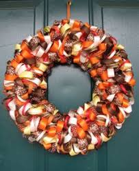 fall ribbon fall ribbon wreath we could each bring a different print of