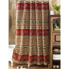 Cabin Style Curtains Adirondack Home Decor Rustic Decor Adirondack Shower Curtains