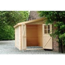 petit chalet de jardin pas cher petit abri de jardin bois adossable nousu 4 67m pas cher à prix