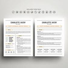 Resume Cover Sheet Template Fully Editable Resume Cv Template In Ms Word 2 Page Template 2