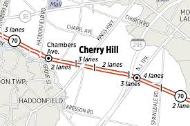 Cherry Hill Mall Map Map Route 70 Construction Project