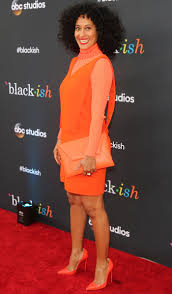 Ross Store Baby Clothes Tracee Ellis Ross In Orange Dress And Matching Christian Louboutin