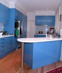 White And Blue Kitchen Cabinets Vivid Blue Kitchen Cabinets As A Brilliant New Option In Kitchen