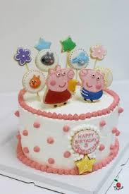 peppa pig birthday cake chocolate angel food cake with fresh