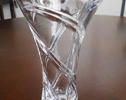Vintage Waterford Crystal Signed 8 Inch Flower Vase In Waterford Vase Etsy