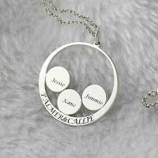 childs name necklace circle family name necklace personalized couples pendant kids name
