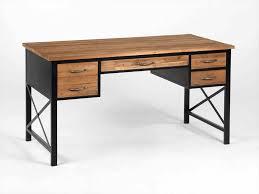 bureau fer forgé et metal industriel en best bureau bois fer console images