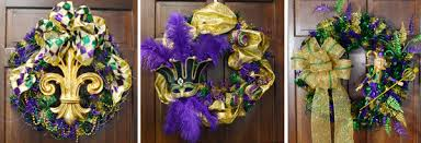 mardi gras decorations to make party ideas by mardi gras outlet mardi gras wreath ideas one