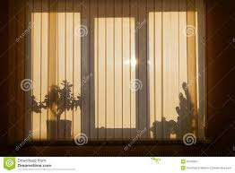 shadow on window with venetian blinds stock photo image 50100607