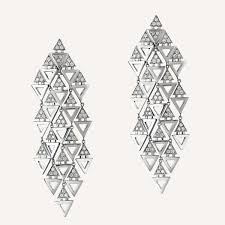 chandelier earings triangle chandelier earrings ilana ariel collections