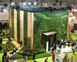 four types of vertical planters showcased at london u0027s ecobuild