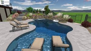 gunite swimming pools equipped garden the beautiful with trees and