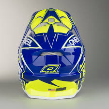 oneal motocross helmets o u0027neal 3 series fuel youth motocross helmet blue hi vis quick