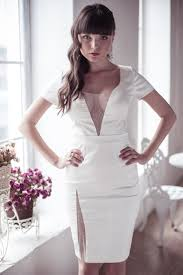 fitted style short wedding dress m11 romantic wedding gown