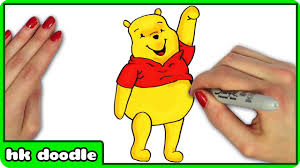 draw winnie pooh easy step step disney cartoon
